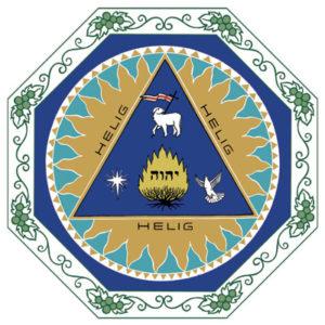Gudsstjärnan, Jesus som lamm och den heliga Anden som uddarna i en triangel.