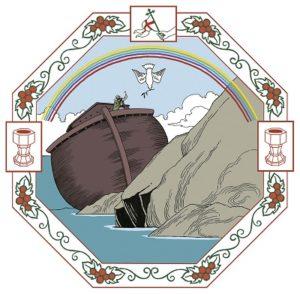 Noaks ark har strandat och en duva hämtar en olivkvist till Noa.